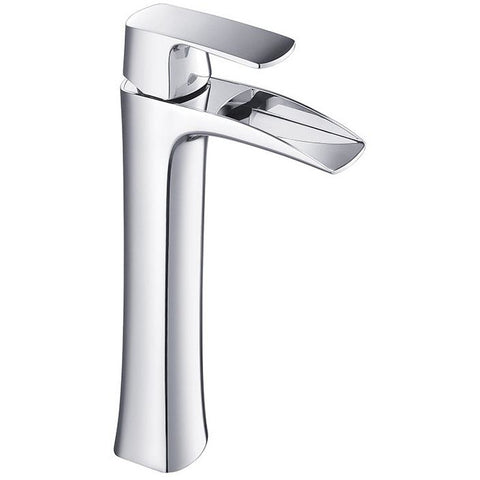 Fresca Fortore Single Hole Vessel Mount Bathroom Faucet - Brushed Nickel FFT3072BN