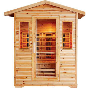 SunRay Cayenne 4-Person Infrared Outdoor Sauna HL400D