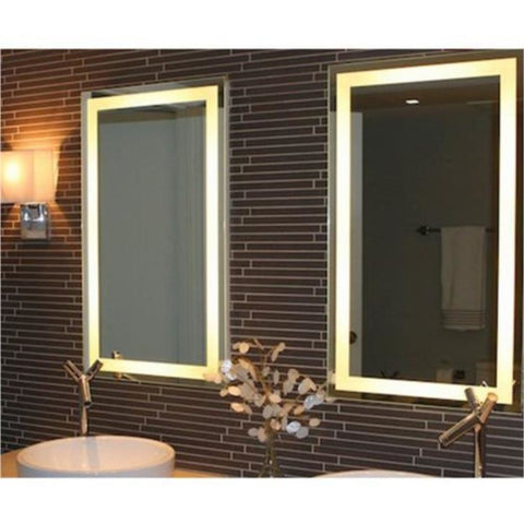 "Image of Afina  Illume 66"" Rectangular Frameless Wall Mount LED Backlit Bathroom Mirror IL-2266-R"
