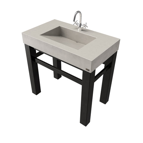 "Trueform Concrete 36"" Industrial Vanity With Concrete Ramp Sink IND-36V"