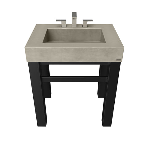 "Trueform Concrete 30"" Industrial Vanity With Concrete Ramp Sink IND-30V"