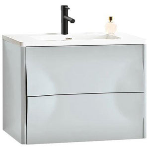 "Karton Republic Colmar 30"" Dark Gray Wall Mount Modern Bathroom Vanity w/Sink VACOLDG30WM"