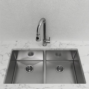 Cantrio Koncepts Double Bowl Stainless Steel Undermount Kitchen Sink KSS-102