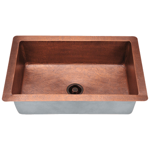 Image of Polaris Single Bowl Copper Sink P309