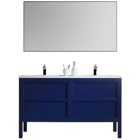"Karton Republic Annecy 55"" Charcoal Oak Freestanding Modern Bathroom Vanity w/ Sink VAANNCH55FD"