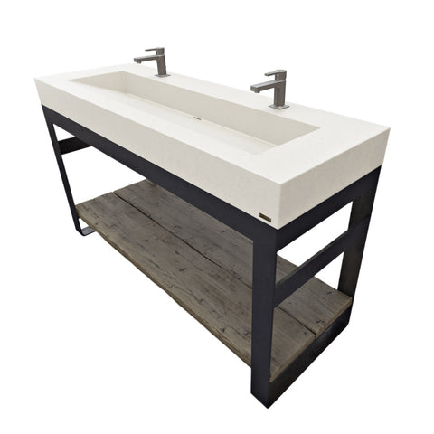 "Trueform Concrete 60"" Outland Vanity With Concrete Ramp Sink OUTLAND-60V"