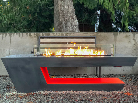 Music City Fire Company The Resonate Fire Pit Table Music Reactive MC050103