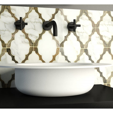 Image of Ideavit Solidcap Oval Vessel  Bathroom Sink 4' Wide  PS IDV 290225