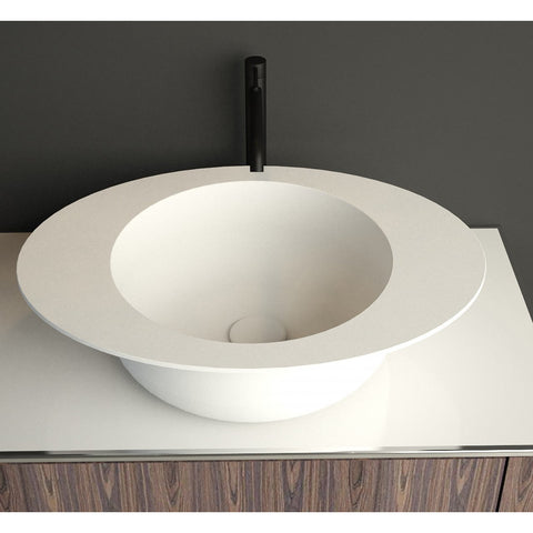 "Image of Ideavit Solidcap 3.0 6"" Oval Vessel Bathroom Sink PS IDV 290226"