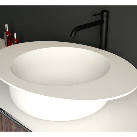 "Ideavit Solidcap 3.0 6"" Oval Vessel Bathroom Sink PS IDV 290226"
