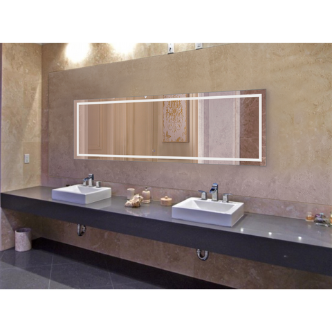 Image of Krugg Icon 84″ X 30″ LED Bathroom Mirror w/ Dimmer & Defogger | Large Lighted Vanity Mirror Icon8430