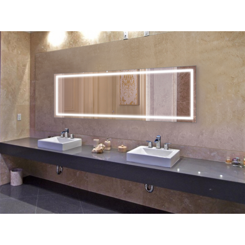 Krugg Icon 84″ X 30″ LED Bathroom Mirror w/ Dimmer & Defogger | Large Lighted Vanity Mirror Icon8430