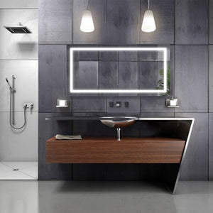 Krugg 48″ X 24″ LED Bathroom Mirror w/ Dimmer & Defogger | Lighted Vanity Mirror Icon4824