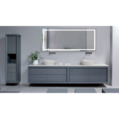 Image of Krugg Icon 72″ X 30″ LED Bathroom Mirror w/ Dimmer & Defogger | Large Lighted Vanity Mirror Icon7230