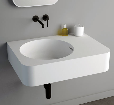 Image of Ideavit Solidbrio Wall Mount Floating Bathroom Sink PS IDV 284223