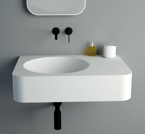 Image of Ideavit Solidbrio 45 Wall Mount Floating Bathroom Sink PS IDV 284223