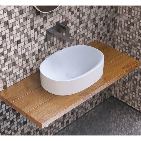 "Image of Ideavit Solidcliff-50  16"" Square Vessel  Bathroom Sink PS IDV 290251"