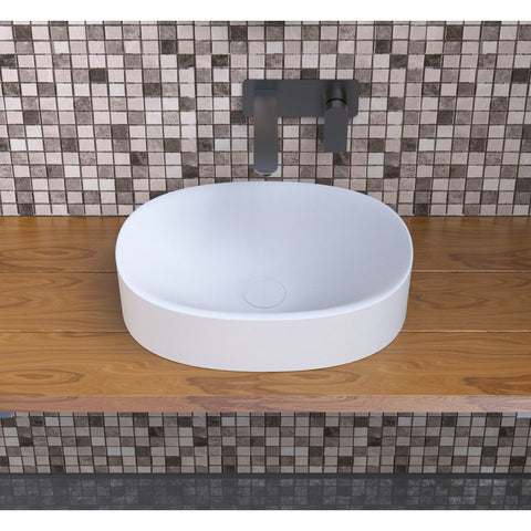 "Ideavit Solidcliff-50  16"" Square Vessel  Bathroom Sink PS IDV 290251"