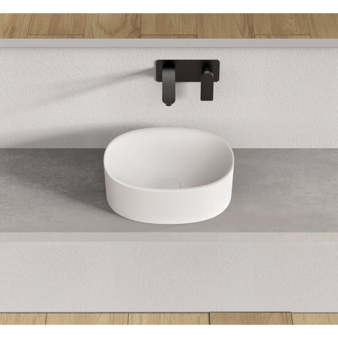 Image of Ideavit Solidcliff- 40 Oval Vessel Bathroom Sink PS IDV 290230