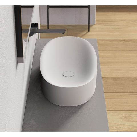"Image of Ideavit Solidcliff-70 28"" Wide Vessel Bathroom Sink PS IDV 290231"
