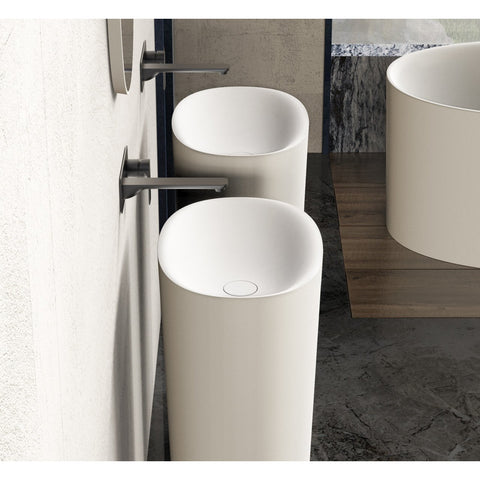 Image of Ideavit Solidcliff Pedestal Bathroom Sink  PS IDV 290232