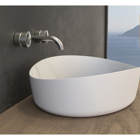 Image of Ideavit Solidharmony Oval Vessel Bathroom Sink PS IDV 290116