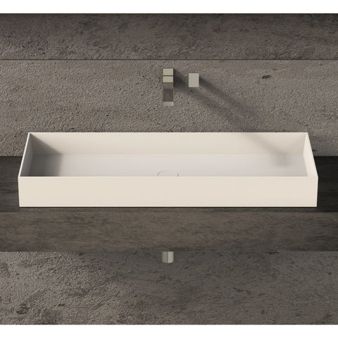 Image of Ideavit Solidjoy-100 Rectangular Vessel Bathroom Sink PS IDV 290027