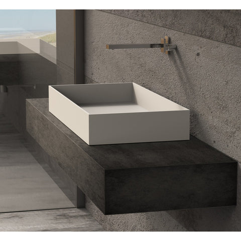 Image of Ideavit Solidjoy-75 Rectangular Vessel Bathroom Sink PS IDV 290026