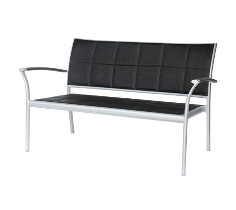 New Roma (Padded Sling) Love Seat w/ Aluminum Arm