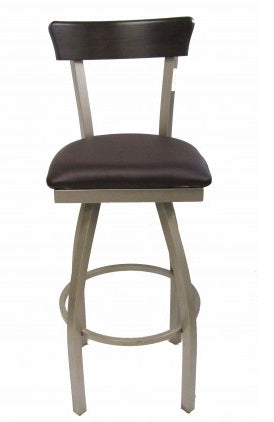 New Orleans Swivel Metal Barstool