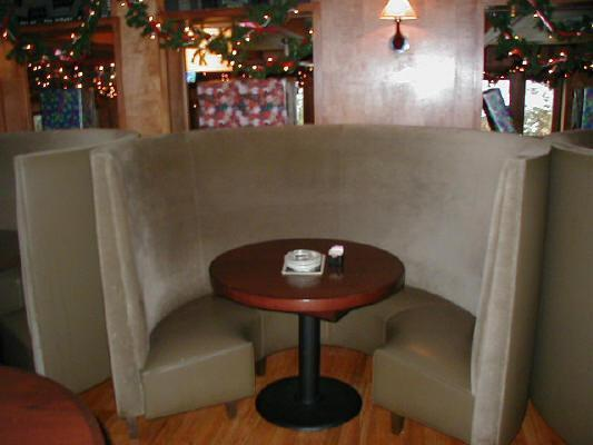 "Image result for ""Rounded"" dining booths"