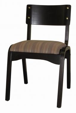 Chairs | Banquet Upholstered Seat Carlos Wood Stacking Chair