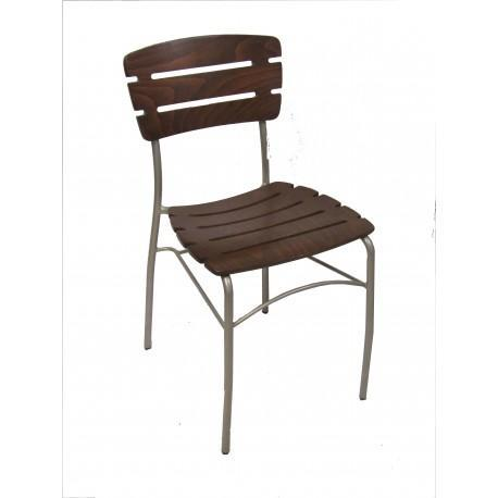 Chairs | Metal Slatback Wood/Metal Chair