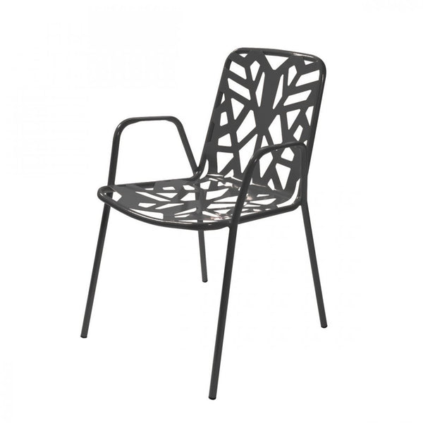 Chairs | Outdoor Fancy Leaf Outdoor Stacking Armchair