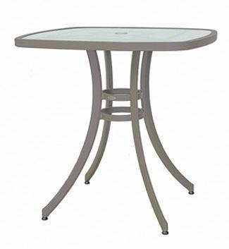 Outdoor | Bar Tables Pisa 36″ Square Bar Table w/Acrylic Top