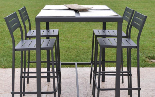 "Outdoor | Table and Base Dorio 120H Outdoor Table (Bar Height, 48""x32"")"