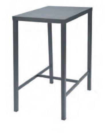"Outdoor | Table and Base Dorio 60H Outdoor Table (Bar Height, 24""x32"")"