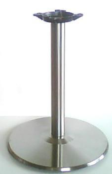 Table Bases | Standard Stainless Steel Round Base, Medium