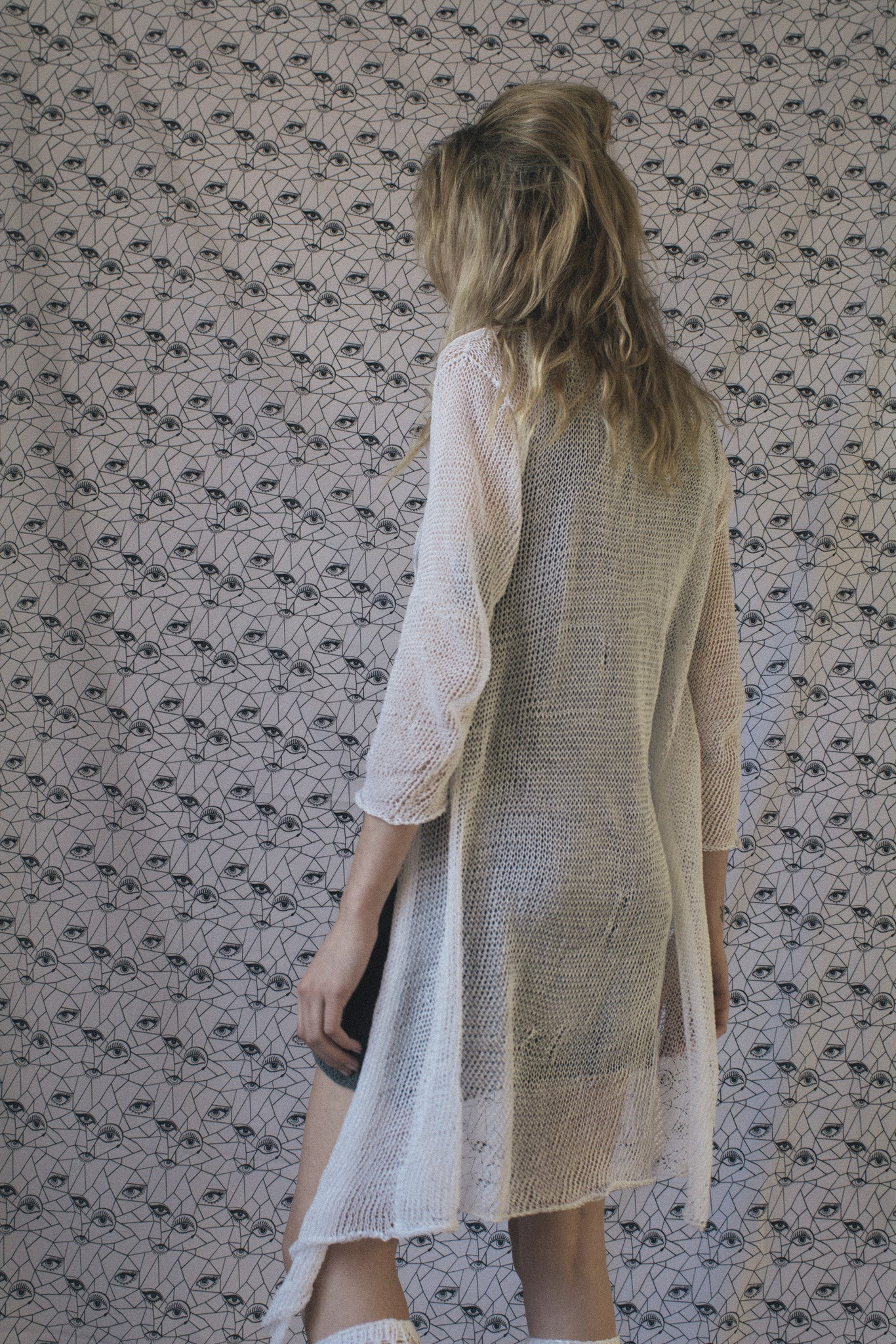 sample CARDIGAN - WHITE SMALL