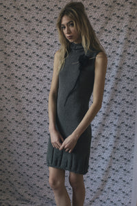 COLUMN DRESS - GREY