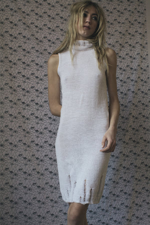 COLUMN DRESS - WHITE