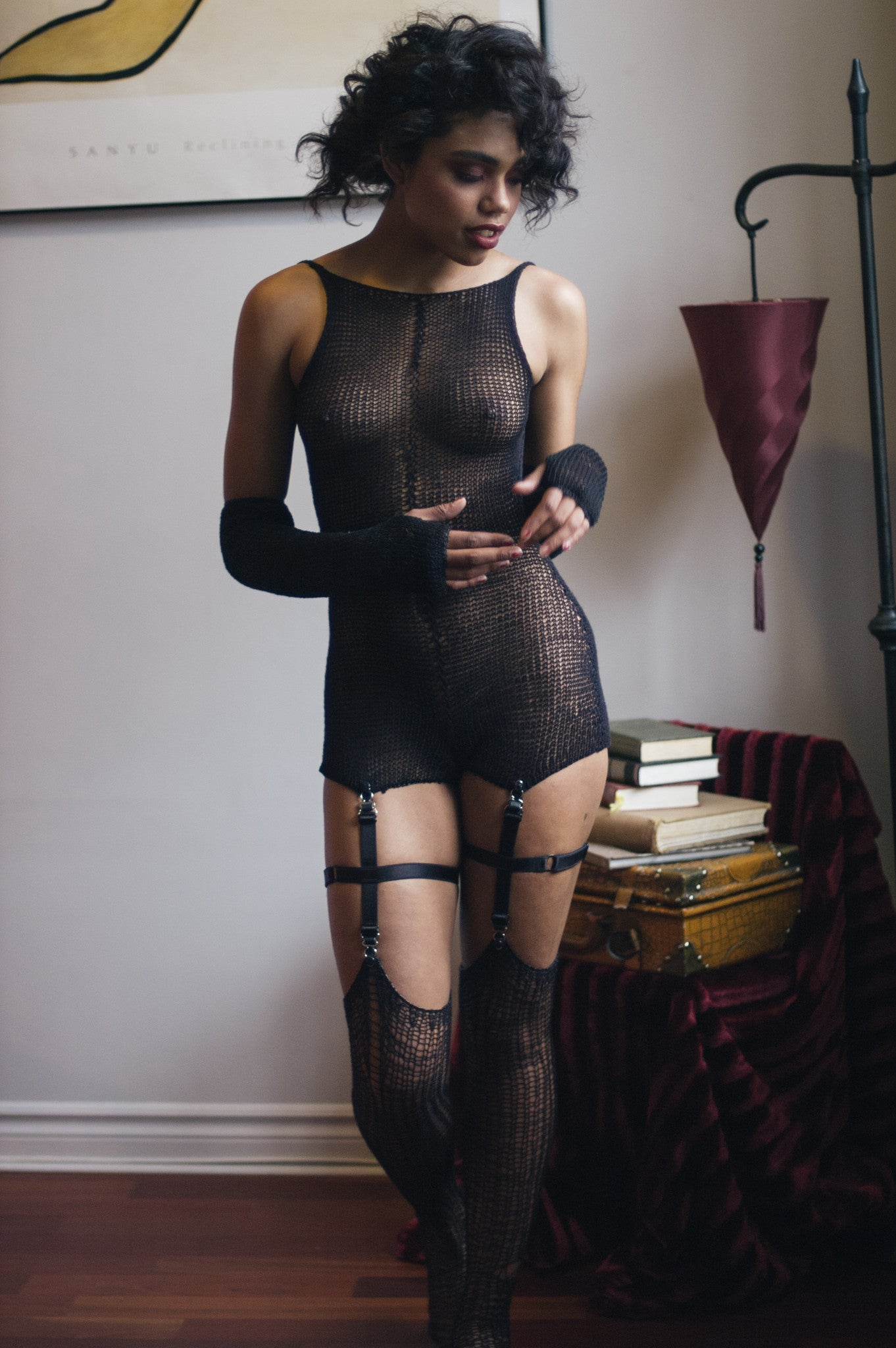 HIGH NECKLINE LEOTARD