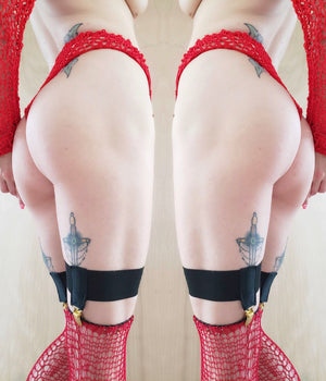 RTS BRIGHT RED AUDREY OVER THE KNEE STOCKINGS