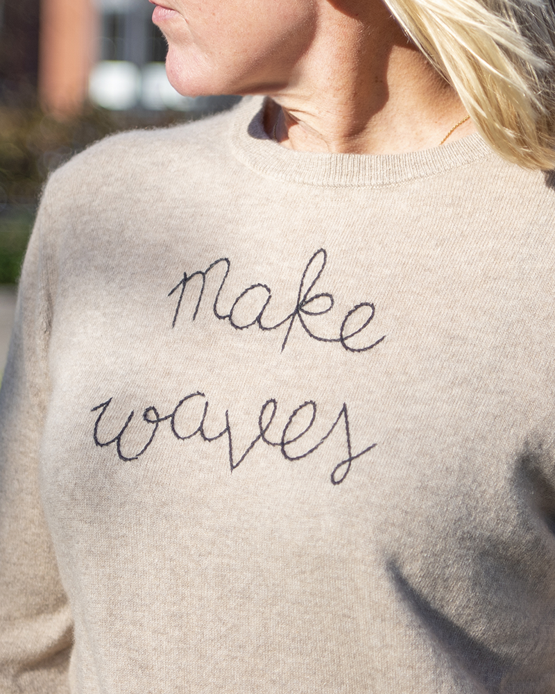 Make Waves Cashmere Sweater