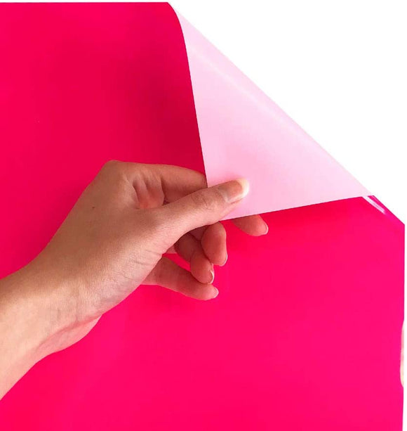 Siser EasyWeed Heat Transfer Vinyl Iron On HTV Precut Sheets (Fluorescent Raspberry)