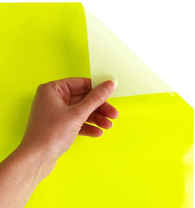 Siser EasyWeed Heat Transfer Vinyl Iron On HTV Precut Sheets (Fluorescent Yellow)
