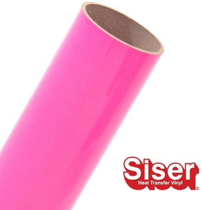 Siser EasyWeed HTV Roll - Iron On Heat Transfer Vinyl (Fluorescent Pink)