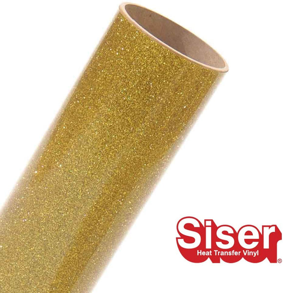 Siser Glitter HTV Roll - Iron on Heat Transfer Vinyl (Gold)