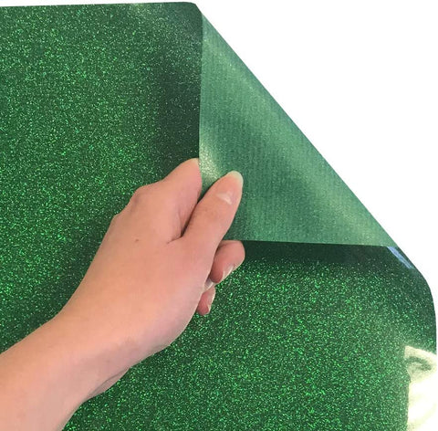 Siser Glitter Heat Transfer Vinyl Iron On HTV Precut Sheets (Grass)