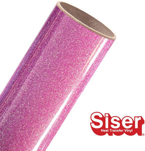 Siser Glitter HTV Roll - Iron on Heat Transfer Vinyl (Rainbow Plum)